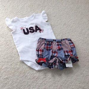 Gymboree Matching Sets - Infant Gymboree shorts and onesie